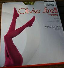 collant ANCHORAGE Olivier Strelli CETTE Taille M coloris PISTACHE 60DEN OPAQUE