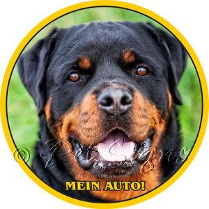 Autoaufkleber Rottweiler - Mein Auto - Sticker mit Rottweilerkopf