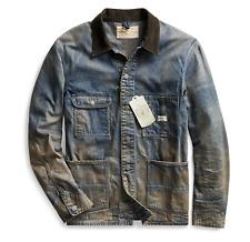 RRL Ralph Lauren Limited Edition Japanese Denim Chore Jacket Men's M Medium