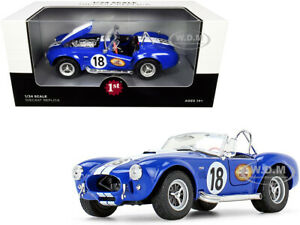 "SHELBY COBRA 427 #18 BLUE ""THE BUSTED KNUCKLE GARAGE"" 1/24 FIRST GEAR 49-0422B7"