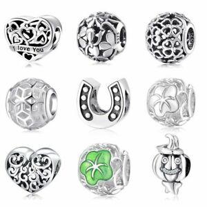 Charms Anhänger für Pandora Armband Armreife Echt Silber 925 Blume Geschenk Neu.
