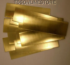 "Yellow Brass Sheet 26ga 6"" x 2"" .41mm Thick Package Of 12"