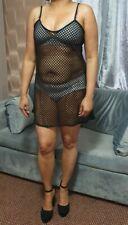 Skater Micro Mini Dress Women's Plus Size Net Short Strech Mesh Net