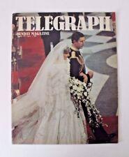 Sunday Telegraph Magazine Featuring The Royal Wedding 1981 Diana Charles