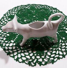 Apilco White Porcelain Cow Creamer France Vintage Farm Animal Farmhouse