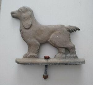 "Vintage aluminum dog fence post topper or counter mount 7"" long"