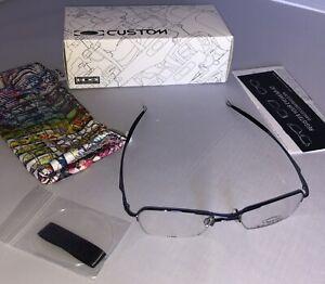 New W Box Oakley Hollow Point 2.0 Eye Reading Glasses Polished Mercury Authentic