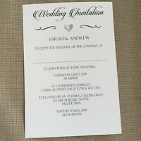 50 Personalised Wedding Evening Invitations Invites Vintage Classic Regency