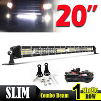"20"" barre de led light bar 56CM Offroad Phare de travail 4x4 Singal Rampe + WIRE"
