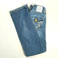 BIG STAR Womens CASEY Low Rise Boot Cut Jeans Medium Wash Size 26 SHORT