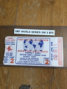 1967 World Series game 2 BOX SEAT Ticket St Louis Cardinals AT Boston Red Sox