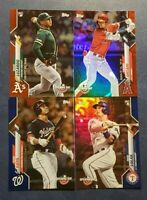 2020 Topps Opening Day Blue and Red Foil Parallels with Rookies You Pick