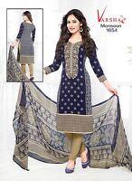 Unstitched Ramzan Shalwar Kameez Indian Pakistani Synthetic Crepe Ethnic Suit