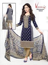Unstitched Ramzan Shalwar Kameez Indian Pakistani Synthetic Crepe Ethnic Suit