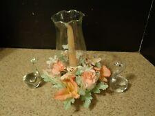 Glass Swans Hurricane candle set