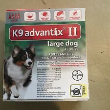 K9 Advantix Ii Flea And Tick Control For Dog 21-55 Lbs - 4 Pack New In Box