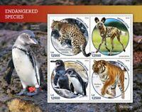 Sierra Leone - 2019 Endangered Species - 4 Stamp Sheet - SRL190218a