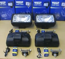 "WIPAC 4 x Roof bar Driving lamps lights ""E"" marked Universal 12V 55W or 100W"