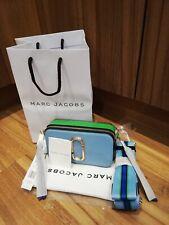 BNWT Marc Jacobs Logo Strap Snapshot Small Camera Light Blue Cross Body Bag
