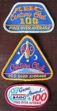 American Bowling Congress ABC 100 Pins Over Average Patches Award (3 different)