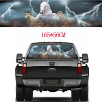 Rear Window White Horse Galloping Graphic Tint Decal Sticker For Truck Jeep SUV