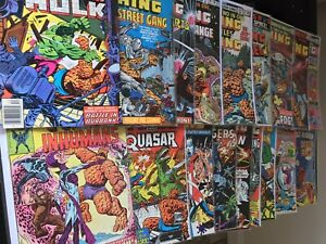 MARVEL TWO-IN-ONE ISSUES 46-50, 68-80 DEC 1978 - 18 MARVEL COMICS, GREAT CONDITI
