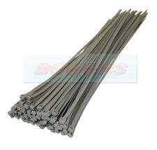 PACK OF 100 SILVER NYLON PA66 UL APPROVED 370mm x 4.8mm CABLE TIES 22KG STRENGTH