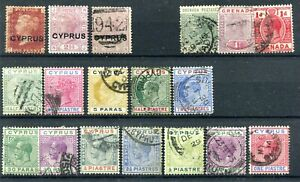 CYPRUS :  Small collection MH/Canc.