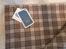 3 1/2 Yards Pendleton Lightweight Wool Fabric Plaid Brown Orange with Tag