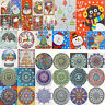 Christmas Elk Mandala 5D DIY Special Shaped Diamond Painting Cross Stitch Kit US