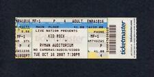 Original Kid Rock 2007 concert ticket Ryman Auditorium Nashville Tennessee