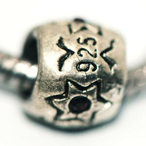 1x Bead Charms Spacer 925 Silver Fit Eupropean Chain Bracelet Making Jewelry DIY