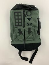 d2baf4760826 UA X Under Armour Project THE ROCK DJ 60 Green Military Duffle Bag Backpack  NWT