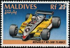 1982 RENAULT RE30B Turbo F1/Formula One Grand Prix Race Car Stamp/1991 Maldives