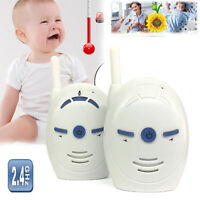 Portable 2.4 GHz Digital Security Audio Baby Monitor Two Way Talk Crystal Clear