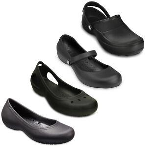 Crocs Work Shoes Womens Alice Kadee Mercy At Work Closed Toe Comfort Flats Clogs