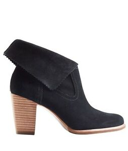 NEW UGG Sz 7.5 THAMES SUEDE HEELED ANKLE BOOT BOOTIES BLACK