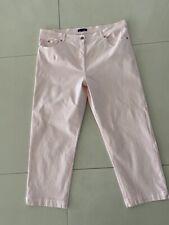NWOT Ladies Gordon Smith Pale Pink 7/8 Leg Stretch Cotton Jeans Size 18