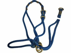 Be Nice Halter,  Extra Large Size,for Average Horse/TB, Blue. ( ref. 7Y)