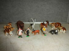 Mixed Lot of Used Model Railroad Animals Figurines