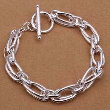 Fashion 925 Silver plated Jewelry Grape Chain Bracelet For Women Men H320