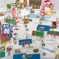 Vintage Christmas To From Tags Labels Cards Retro Hallmark Snowman Santa 137