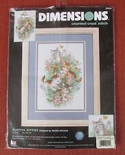"Dimensions Playful Kitties Counted Cross Stitch Martha Edwards 9"" x 13"""