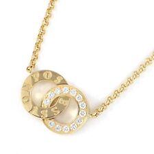 Auth PIAGET Necklace Flat Possession Round Circle Diamond 750(18K) Yellow Gold