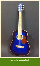 VGS D-Baby 3/4 Size OM Acoustic Guitar – Translucent BLUE + Gig Bag + Strings