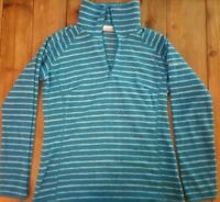 Columbia Aqua Blue Fleece pull over jacket ready to keep you warm and soft.