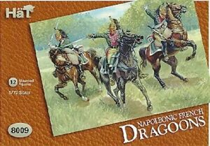 HAT 1/72 Napoleonic French Dragoons Soldiers Set 8009 New!