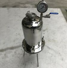 10L Liquid Filter Cylinder Positive Pressure Filter Manifold Oil Wine Water
