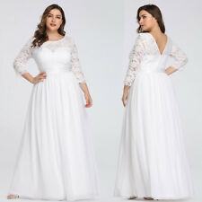 Ever-Pretty Lady White Formal Long Mother of Bride Beach Wedding Dresses 07412