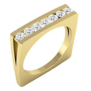 Engegmenat Ring SI1G 0.70 Carat Natural Diamond Channel Set 14K Yellow Gold